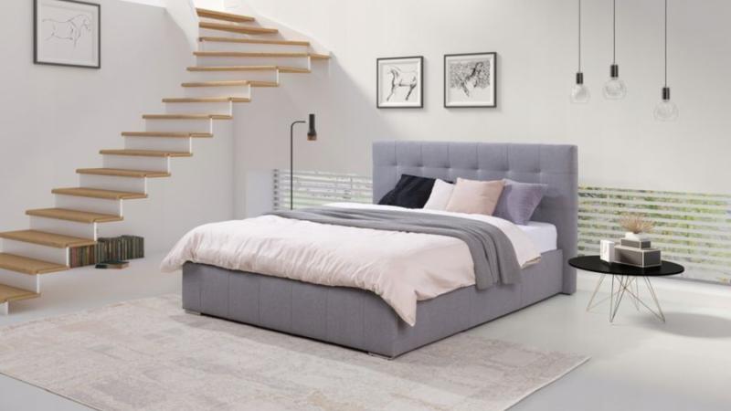 łóżko tapicerowane STRAIGHT